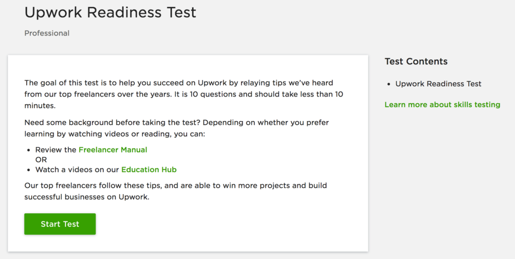 Upwork Readiness Test Shajeel's Blog